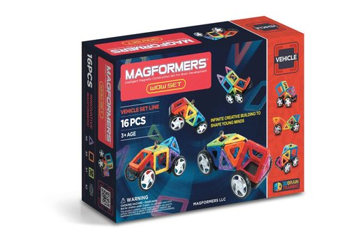Magformers vehicle wow Set (16pcs)