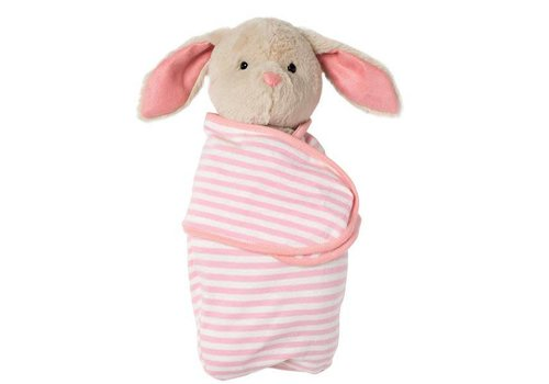 Bunny in swaddle blanket