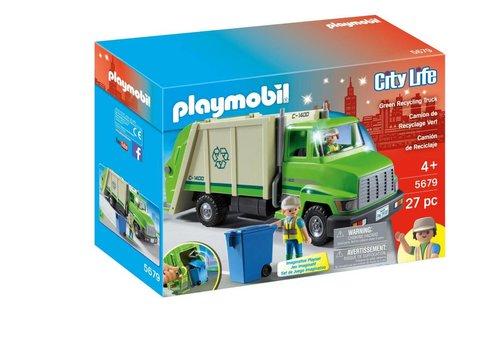 Playmobil Camion de recyclage vert