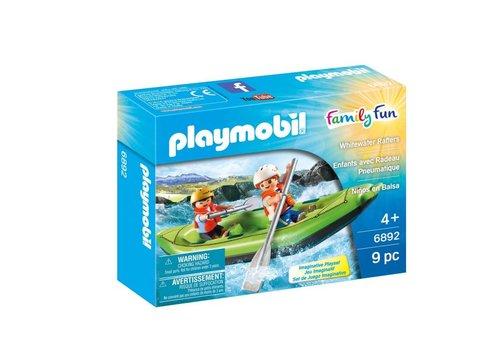 Playmobil Enfants avec radeau pneumatique