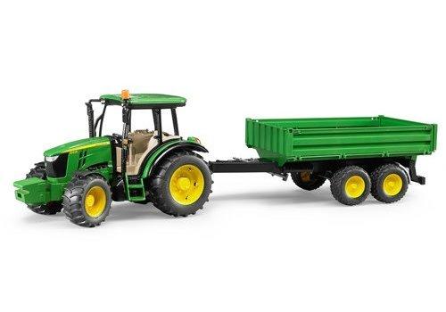 Bruder John Deere 5115M with trailer