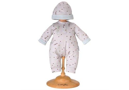 Corolle Pyjama gris et bonnet