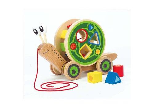 Hape Escargot roulant avec jeu de formes