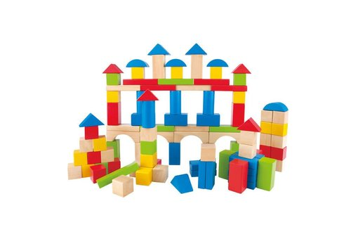 Hape Build Up & Away Blocks - 100 pcs