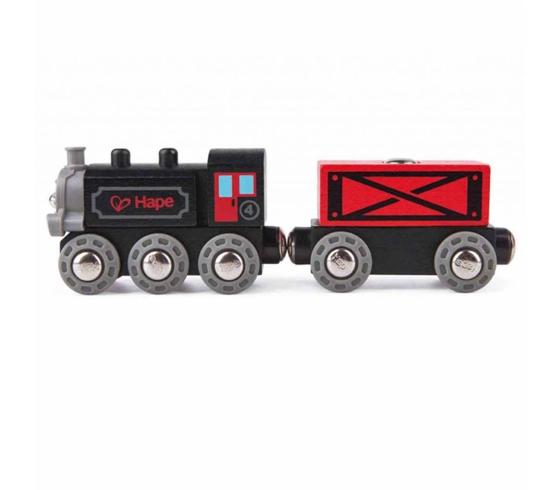 Train de marchandises a vapeur