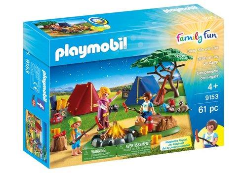 Playmobil Tentes et feu de camp*