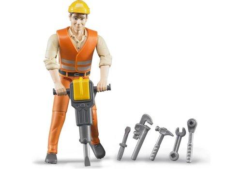 Bruder Travailleur de la construction avec accessoires