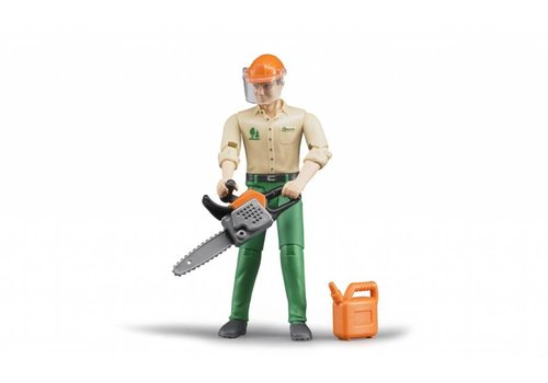 Bruder Logging man with accessories
