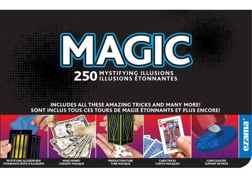 Ezama Magic 250 trucs - Ensemble de magie 250 tours bilingue