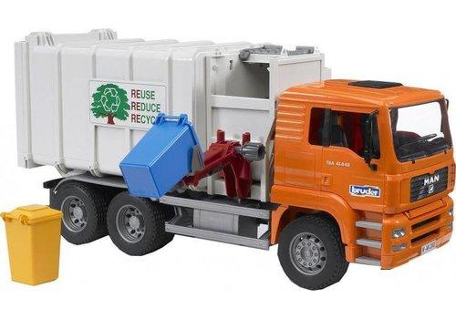 Bruder MAN TGS Rear Loading Garbage Orange