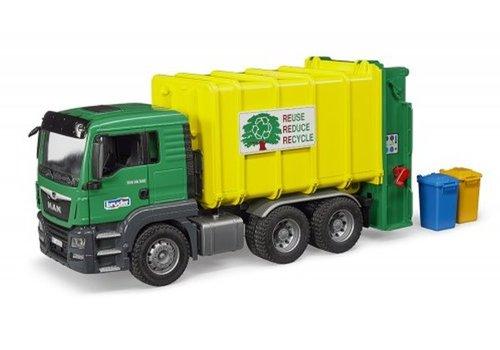 Bruder MAN TGS Rear Loading Garbage Green/yellow