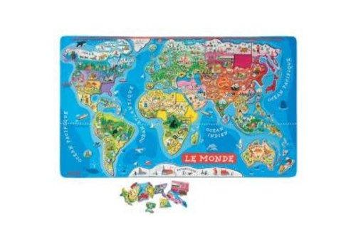 Janod Carte du monde magnétique