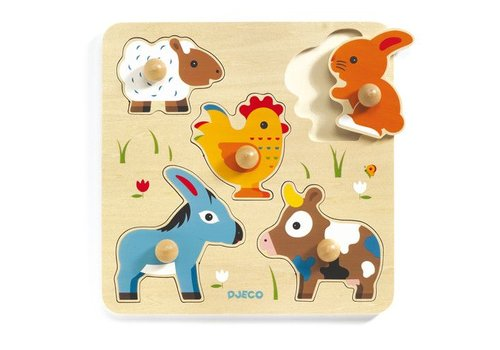 Djeco Wooden puzzle / Hihan & co / 5 pcs