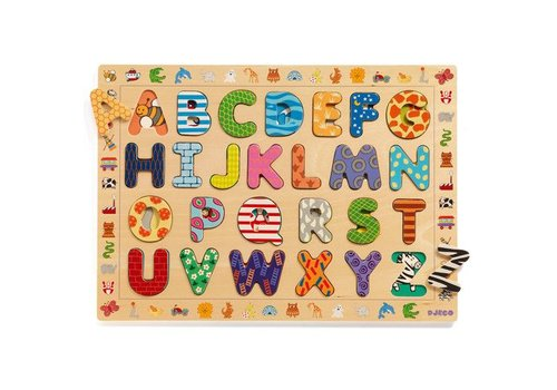 Djeco Wooden Puzzle / ABC / 26 pcs