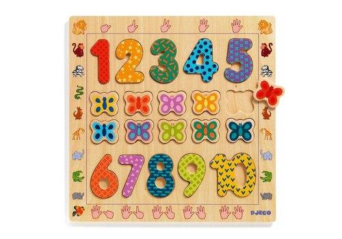 Djeco Puzzle bois / 1 a 10 / 20 pcs
