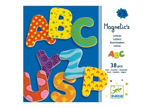 Djeco Magnetic's / 38 lettres majuscules magnétiques
