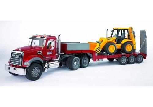 Bruder MACK  camion Loader avec tracteur JCB