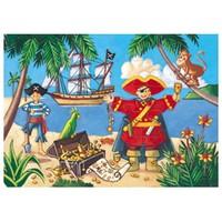 Puzzle silhouette / Pirate / 36 pcs
