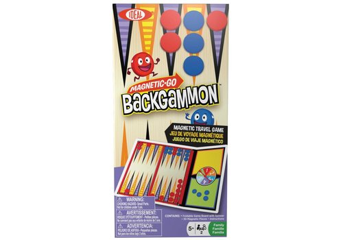 Alex Ideal Magnetic Go! Backgammon Travel Game