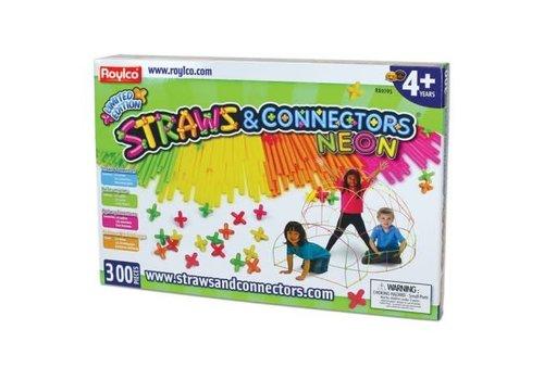 Neon Straws and Connectors, 300pkg