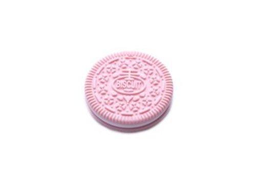 Jouet de dentition : Biscuit rose bonbon