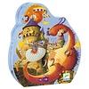 Djeco Puzzle silhouette / Vaillant et les dragons / 54 pcs