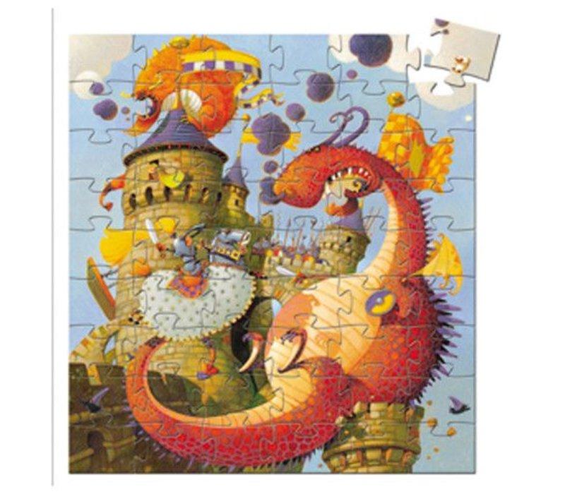 Puzzle silhouette / Vaillant et les dragons / 54 pcs