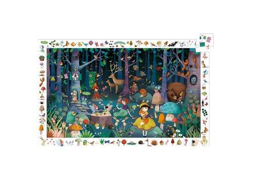 Djeco Puzzle observation / Forêt enchantée / 100 pcs