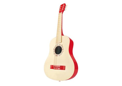 Hape Vibrant red guitar