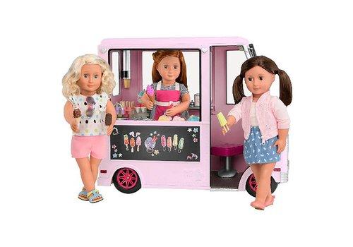 Our generation Camion de creme glacée rose