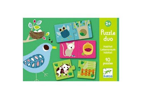 Djeco Puzzle duo / Habitat
