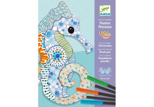 Djeco Feutres pinceaux l'art du motif