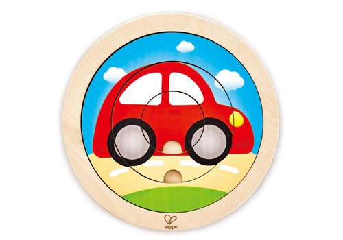 Hape Casse-tête tournant voiture - Spinning Transport Puzzle