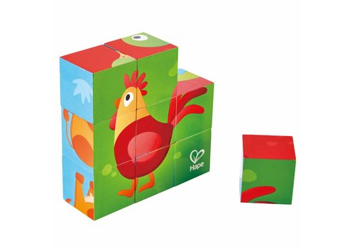Hape Blocs les animaux de la ferme - Farm Animal Block Puzzle