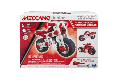 Meccano Jr Super motos 49pces