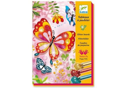 Djeco Tableaux a pailleter / Papillons