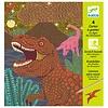 Djeco Cartes a gratter / Le regne des dinosaures