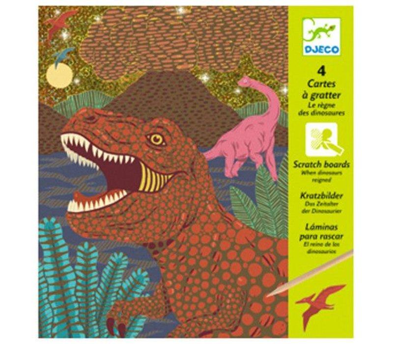Cartes a gratter / Le regne des dinosaures