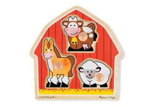 Melissa & Doug Barnyard Animals Lg Peg Puzzle