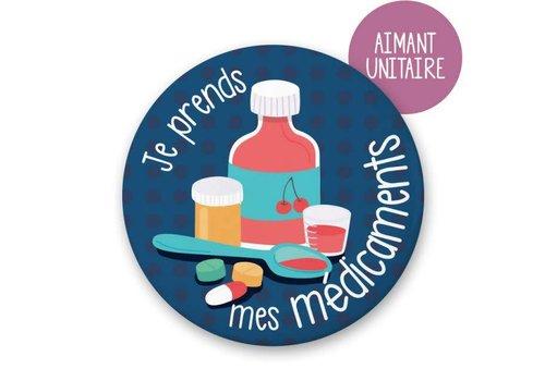 Minimo Aimant unitaire : Je prends mes médicaments