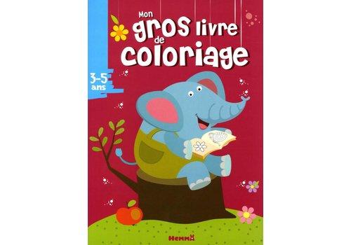 Mon gros livre de coloriage Elephant