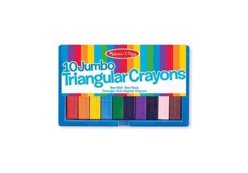 Melissa & Doug Jumbo Triangular Crayon Set (10pcs)