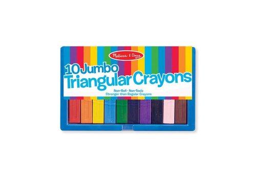 Melissa & Doug Jumbo Triangular Crayon Set (10pcs)