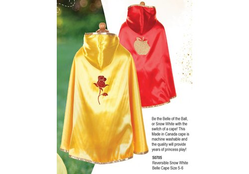 Reversible Snow White - Belle Cape Size 5-6