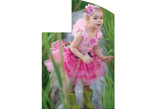 creative education Fairy Blooms Deluxe Dress. Wings. & HB. Pink. Size 5-6