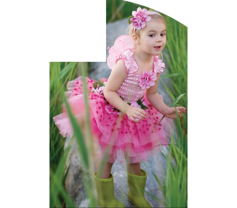 Fairy Blooms Deluxe Dress. Pink Size 5-6