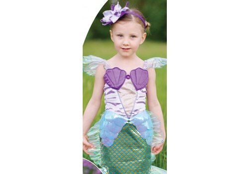 creative education Lilac Mermaid Dress & Headband. Blue Lilac. Size 5-6