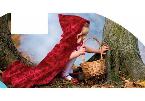 creative education Little Red Riding Hood Cape. Red. Size 5-7