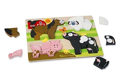 Melissa & Doug Chunky Jigsaw Puzzle - Animaux de la ferme