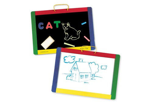 Melissa & Doug Magnetic chalk board - dry erase board